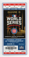2016 WORLD SERIES GAME #3 CHICAGO CUBS vs CLEVELAND INDIANS Full Ticket ZOBRIST