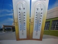 Lot of 2  Wall Thermometers for indoor/outdoor use 20 cms high+Bonus 3rd free