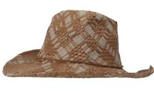Mens Jacaru Straw Hat Brown Cowboy Western One Size Beach Summer Festival New