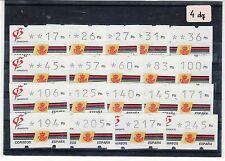 SELLOS ATms 1992 3a. GRANADA 92 19v. CON NUMERO 4 DIGITOS