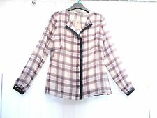 BNWT TU Long Sleeve check Blouse with Cami 10