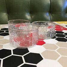 3 X 70s Retro Glass Flower Snack Bowls