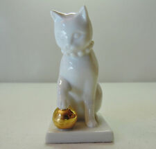 Blanc de Chine The Franklin Mint Curio Cat Collection Figurine 1988