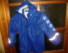 ✿zauberhafte Regenjacke♥blau mit Sternen♥Gr 116-122♥süß♥wie neu✿ Kapuze