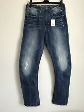 NWT G-STAR RAW LOOSE TAPERED WATTON DENIM COTTON DISTRESSED JEANS SIZE 30
