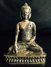 "Antique 8""/21cm Heavy Tibetan Brass Sakyamuni/Luili/Medicine/Apothecary Buddha"