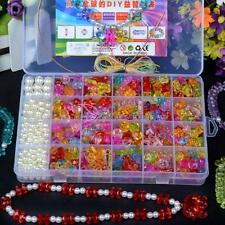 600Pcs Colorful Beads Child Kids Jewelry Making DIY Necklace Bracelet Toy Gift