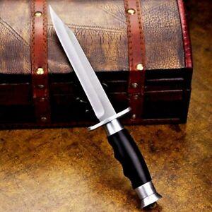 Clip Point Knife Fixed Blade Hunting Combat Tactical Aluminum Handle Premium Cut
