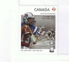 2012 CANADA CFL CANADIAN FOOTBALL LEAGUE -  MONTREAL ALOUETTES SINGLE STAMP