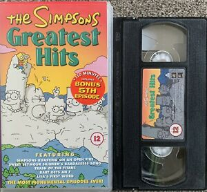 THE SIMPSONS GREATEST HITS-ANIMATED-VHS VIDEO.
