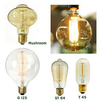 E27 60W Filament Vintage Antique Edison Squirrel Cage Light Bulbs Dimmable