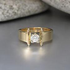 Ring mit ca. 0,25ct Brillant TW-si  in 585/14K Weiß-/Gelbgold