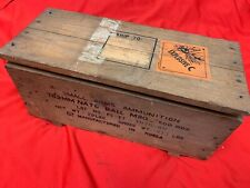 Military Wooden Ammo Crate Box Ammunition 19 x 9 x 8 ""
