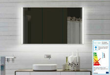 Bad Badezimmer Spiegelschrank LED Licht mit ALU Rahmen und Steckdose 120x70cm