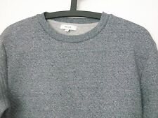 REISS GREY-BLUE QUILTED SWEATSHIRT RRP£70 HARDLY WORN S JUMPER BUCKLEY RIESS COS