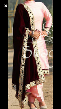 salwar long kameez design indian bollywood pakistani shalwar suit velvet dupatta
