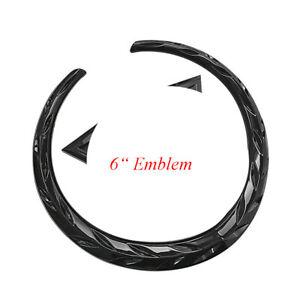 "6"" Black Wreath Crest Front Grille Emblem Badge for Cadillac Escalade CTS SRX"