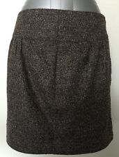 COUNTRY ROAD Women Wool Fully Lined Mini Skirt Size 12 (43cm Length)