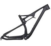 """29er 19"""" BB92 Full Suspension Carbon Frame EPS Matt MTB Thru Axle Mountain Bike"""