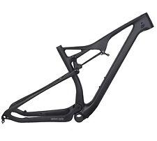 """29er 21"""" BB92 Full Suspension Carbon Frame EPS Matt MTB Thru Axle Mountain Bike"""