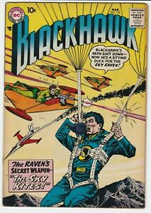 Blackhawk #122 VF 8.0 Adventure War Raven's Secret Weapon The Sky Kites Olaf
