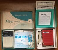 VINTAGE Transistor Radio Lot Truetone Works Realtone Box & Earbud Nobility Radio