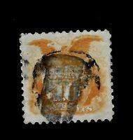 US 1869 Sc# 116 Shield & Eagle  - Grill - Centered - Crisp Color - Great Margins