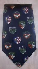 NWT Tommy Hilfiger Crest Shield Navy 100% Italian Silk Neck Tie Made In USA
