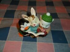 "Chrismas Ornament 1990 Current Penguin Bunny Mouse Singing Orn Only 2 13/16"" Hig"