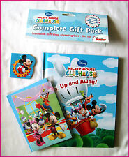 DISNEY MICKEY MOUSE CLUBHOUSE -  Storybook & GIFT PACK  Book Wrap Card & Tag Set