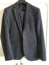 """Top Man Men's Dark Blue wool 2 piece suit - chest 38"""" waist 34"""""""
