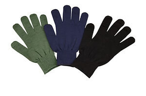 Polypropylene Glove Liners G.I. Military Style - Black or Olive - Made in USA