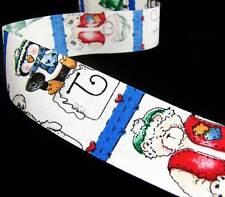 "2 Spools Decorative Christmas Craft Ribbon Santa /""Ho Ho Ho/"" White//Red 3//8/"" x25yd"