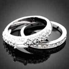DOUBLE RING WEDDING GOLD WHITE STONES OF ZIRCONIUM