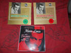 lot de 3 vinyles 45 tours de Mario Lanza : because / begin the beguine - rca