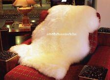 Genuine Real Australian SINGLE Pelt Large Sheepskin Rug 2ft+ x 3.5ft