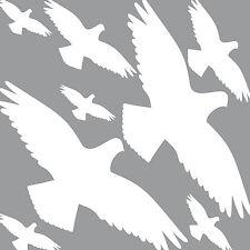 25cm Set weiß Vogelschreck Vogelschutz Vogelabwehr Fensteraufkleber Fensterfolie