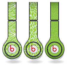 Removable Vinyl Decal - Beats Solo HD Skins - Lime Green Animal Print Set of 3