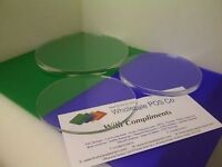 ROUND PERSPEX CLEAR ACRYLIC CAKE DISPLAY BOARD WEDDING CELEBRATION PLATE 5MM