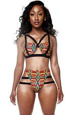 Costume Da Bagno Vita Alta Bikini Mini string slim sling Swimwear Swimsuit XL