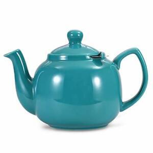 Urban Lifestyle Teekanne Klassisch Englische Form aus Keramik Oxford (Türkis)