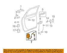 GM OEM Rear Door-Lock or Actuator Latch Release 22820696