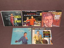MARIO LANZA 5 LP RECORD ALBUMS LOT COLLECTION Christmas/First Time/Best Of/B'way