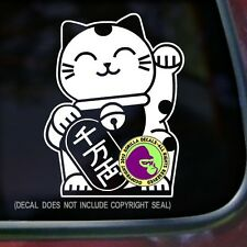 Japanese Beckoning Cat Vinyl Decal Sticker Japan Lucky Feline Window Car Sign