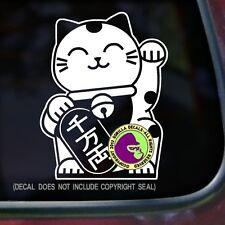 Japanese Beckoning Cat Vinyl Decal Sticker Japan Lucky Feline Window Car Door