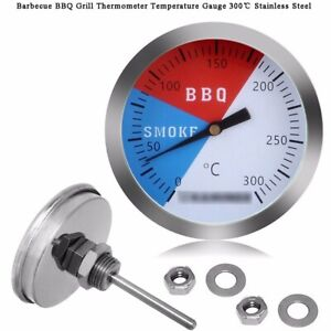 300℃ 2'' Steel Barbecue BBQ Smoker Grill Thermometer Temperature Gauge