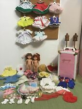 2-Ginny Vogue Dolls Clothes Shoes WoodenMannequin Carry Case Huge Lot 80pc Assce