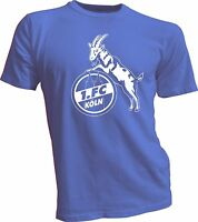 New 1. FC KOLN Germany Bundesliga UEFA Footbal Soccer Blue T-SHIRT Football Team