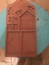 Vntg Hanging Ceramic Gingerbread Men House Cookie Mold Trivet COUNTRY HOME Mint!