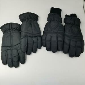 Gordini Womens SZ M Ski Gloves 3M Thinsulate Waterproof SZ L Black Winter Lot 2